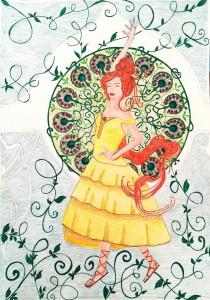 Danseuse andalouse d apres Mucha