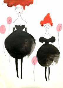 Femmes aux ballons