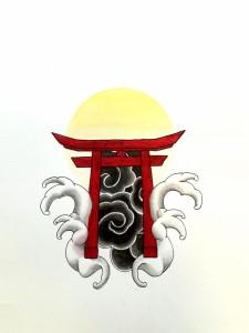 Graphisme La porte du Japon