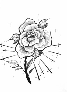 Rose et glaive