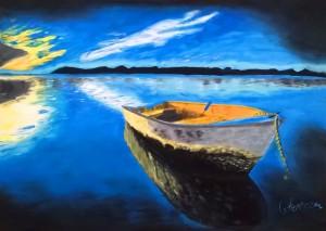 Barque au mouillage 01