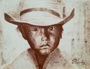 Enfant mexicain au chapeau