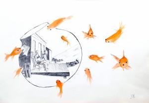 Hopper dans un bocal