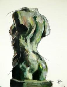 Buste d'apres Rodin