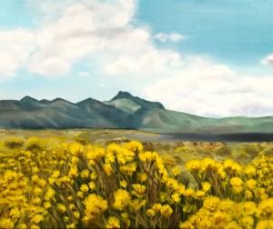 Lagune aux fleurs jaunes