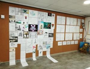 Exposition-2017-2018-Atelier Chromatic-Cours-de-Graphisme-et-Arts-appliques-Bande-dessinee-Manga