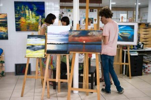 Exposition-2017-2018-Atelier Chromatic-Cours-de -peinture-huile-acrylique